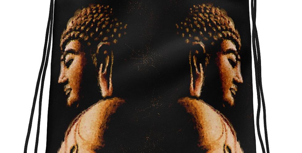 """Buddha Mirror (Metallic)"" Drawstring Bag"