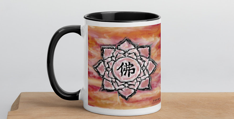 """Buddha Lotus (Crimson Sunset)"" Coffee Mug"