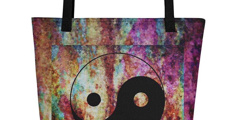 """""""Yin-Yang (Abstract Graffiti)"""" Tote Bag"""
