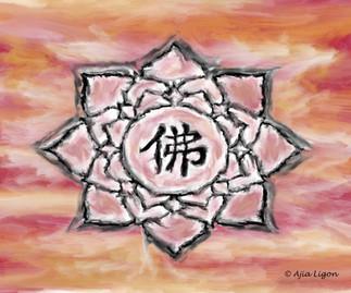 Buddha Lotus (Crimson Sunset)