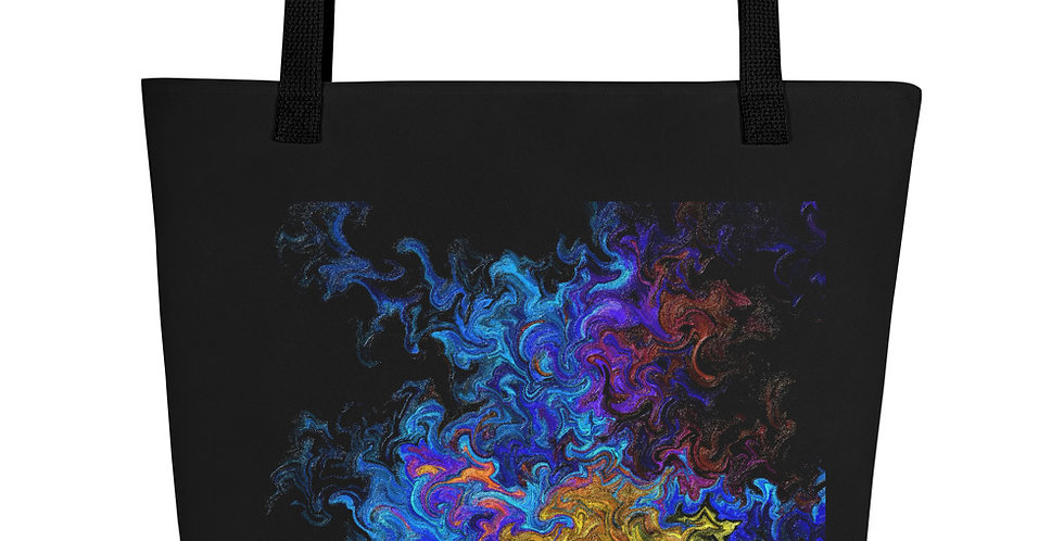 """Abstract Flame III"" Tote Bag"