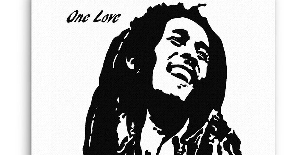 """One Love"" Canvas Print"