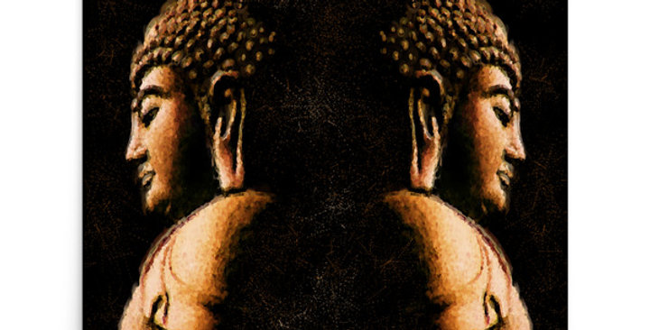 """Buddha Mirror (Metallic)"" Art Print"