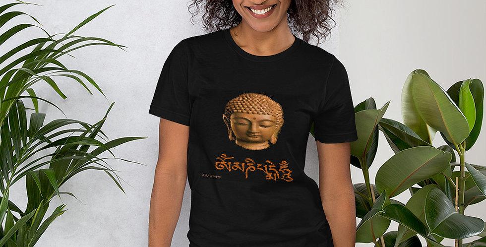"""""""Wood Buddha (Om Mani)"""" Unisex T-Shirt"""