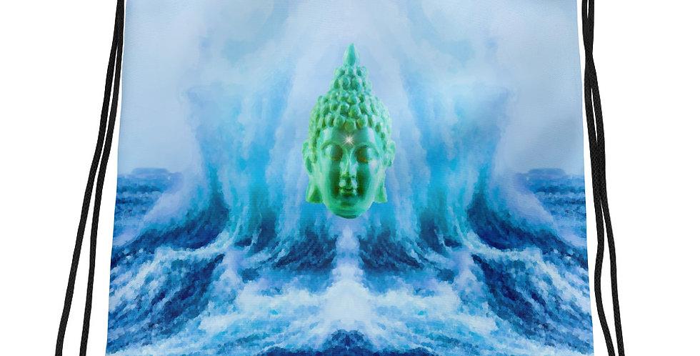 """Buddha Wave II"" Drawstring Bag"