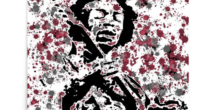 """Jimi (Splash)"" Art Print"