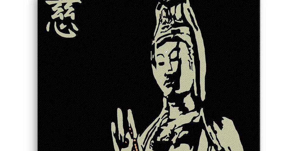 """Quan Yin II (Stone)"" Canvas Print"