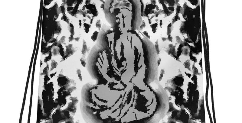"""""""Radiant Buddha (Graffiti)"""" Drawstring Bag"""