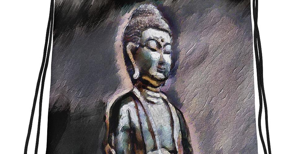 """Buddha (Shadows)"" Drawstring Bag"