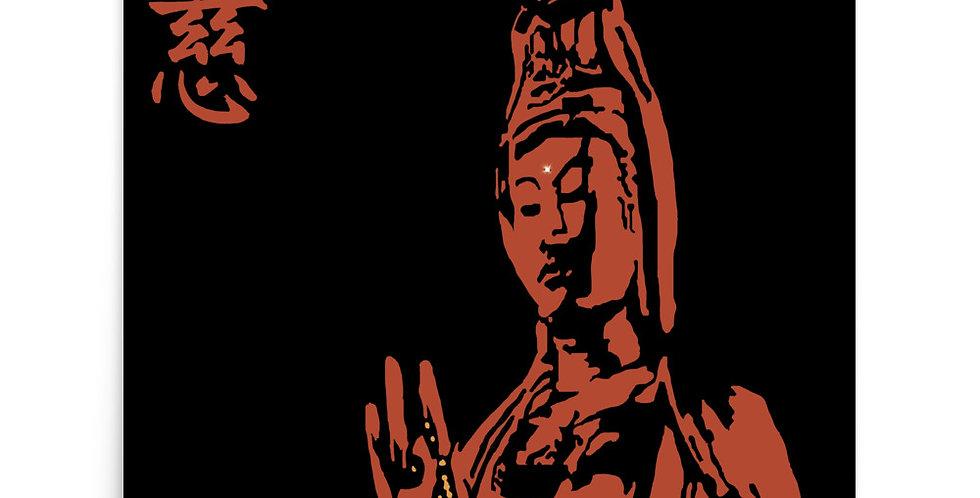 """""""Quan Yin II (Terracotta)"""" Art Print"""