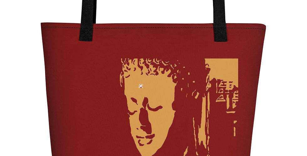 """Mindfulness (Crimson & Gold)"" Tote Bag"
