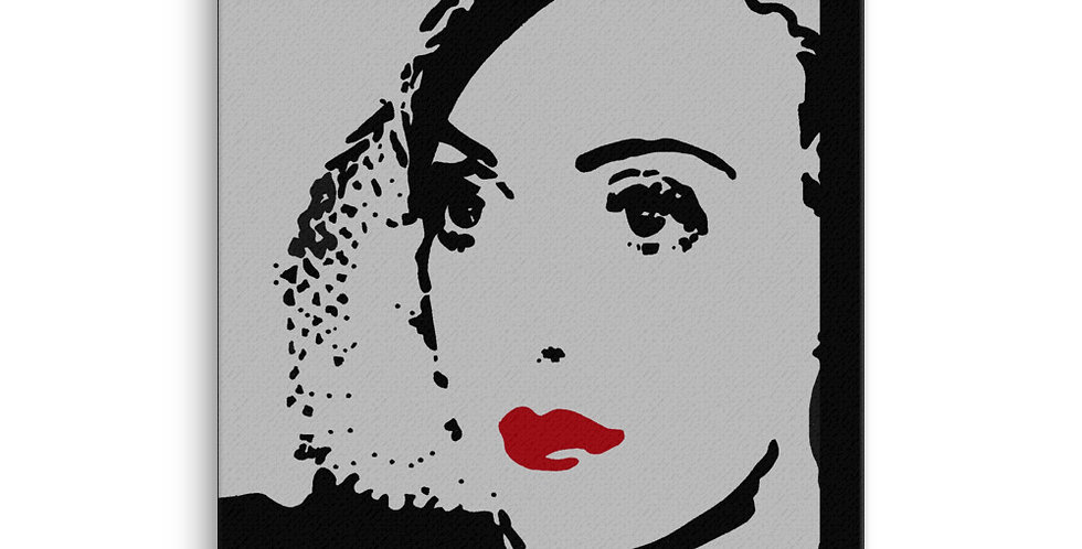 """Bette (Silver Screen)"" Canvas Print"