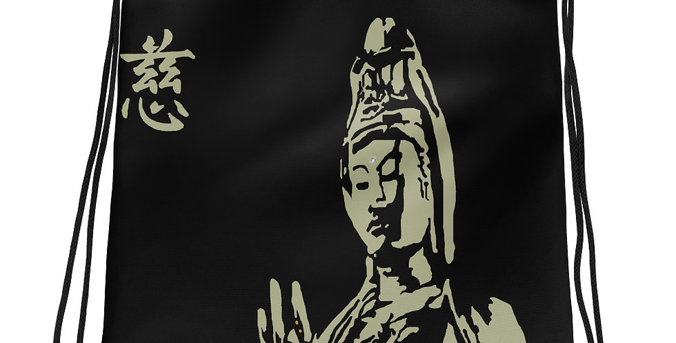 """Quan Yin II (Stone)"" Drawstring Bag"
