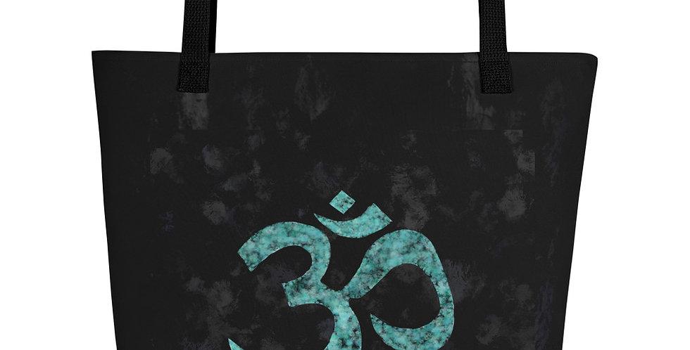 """""""Emerald Om (Graffiti)"""" Tote Bag"""