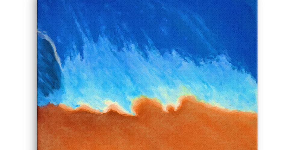 """Into The Blue XVI"" Canvas Print"