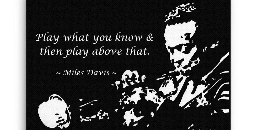 """Miles II"" Canvas Print"