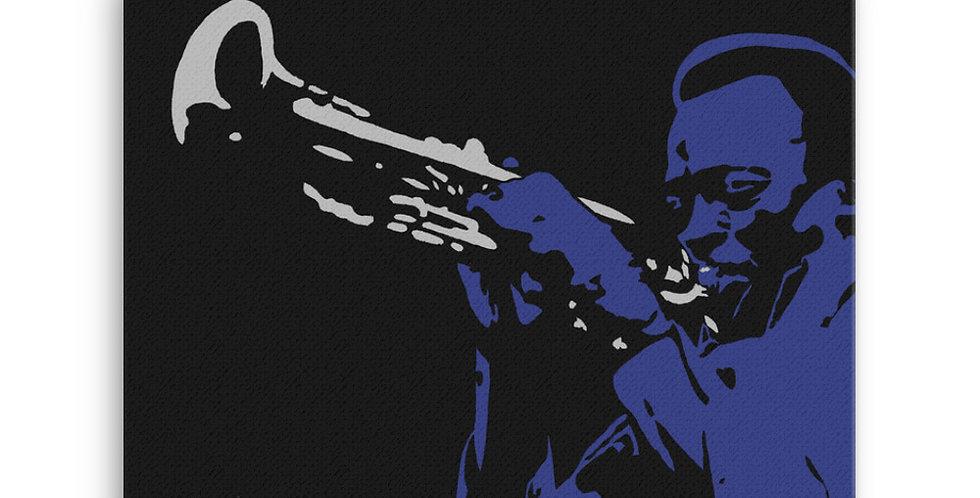 """Miles (Blues)"" Canvas Print"