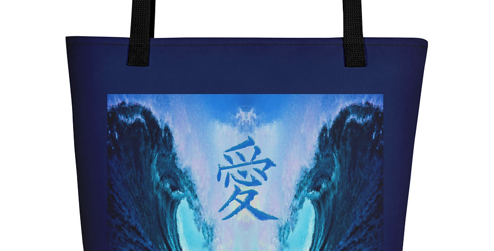 """Waves Of Love"" Tote Bag"