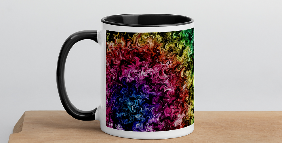 """Abstract Flame VI"" Coffee Mug"