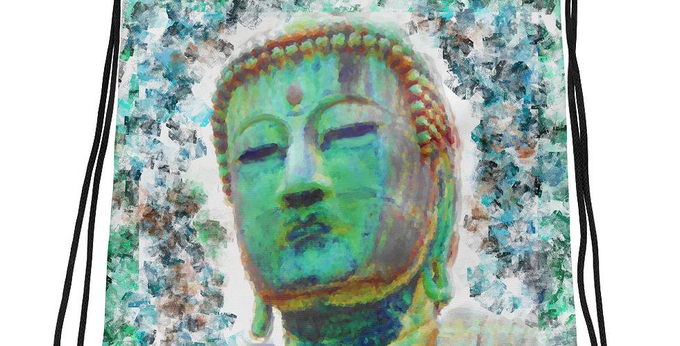 """Buddha (Weathered)"" Drawstring Bag"