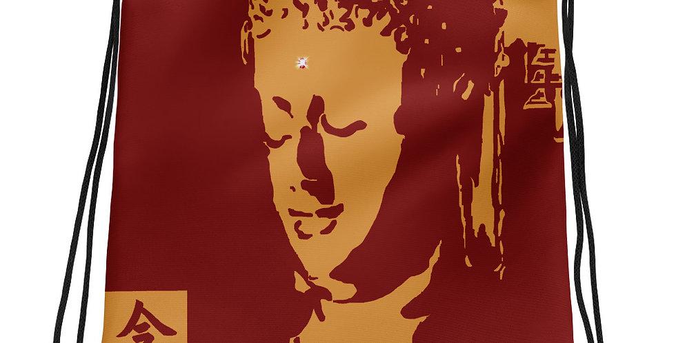 """Mindfulness (Crimson & Gold)"" Drawstring Bag"