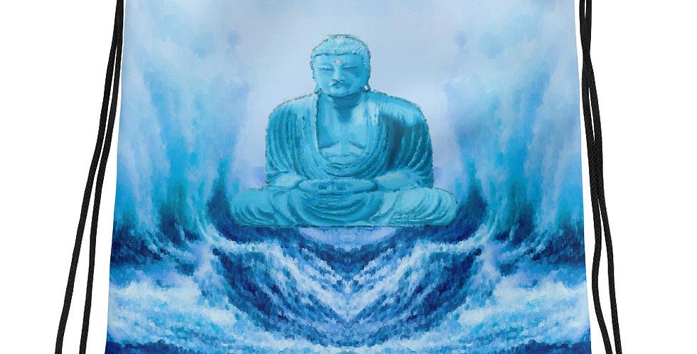 """Buddha Wave"" Drawstring Bag"