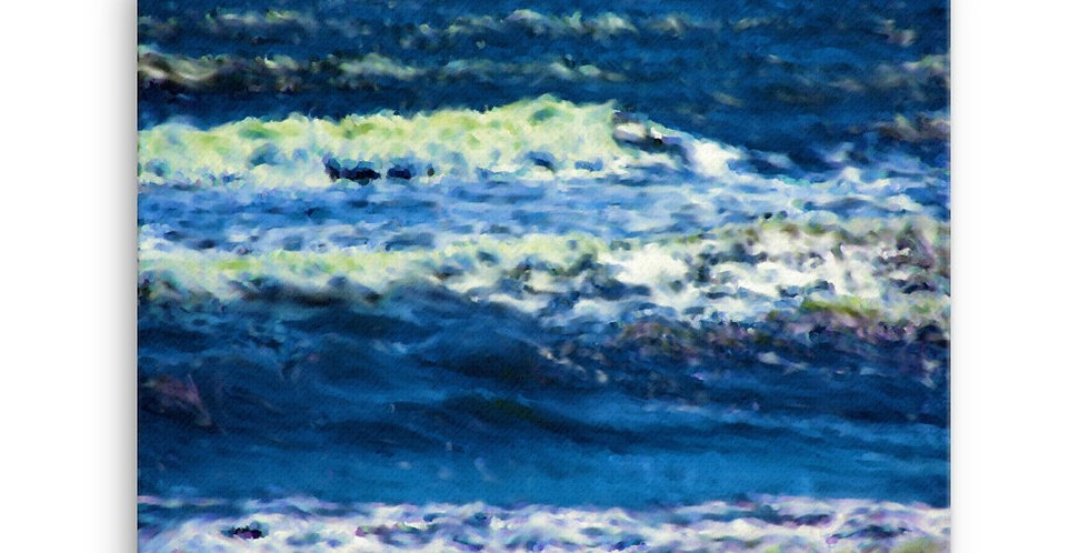 """""""Into The Blue IV"""" Canvas Print"""