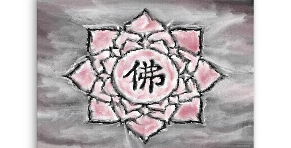 """Buddha Lotus (Crimson Storm)"" Canvas Print"