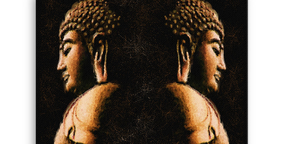 """Buddha Mirror (Metallic)"" Canvas Print"