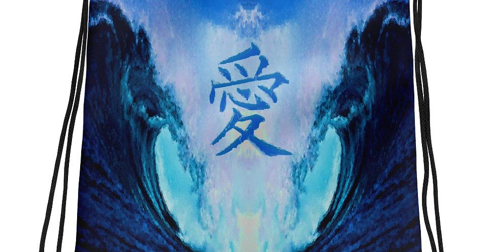 """Waves Of Love"" Drawstring Bag"