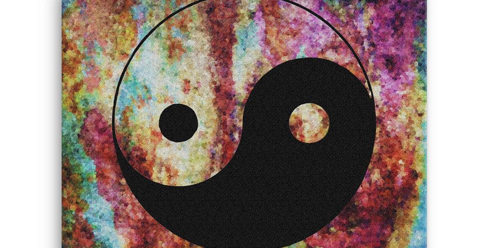 """""""Yin-Yang (Abstract Graffiti)"""" Canvas Print"""