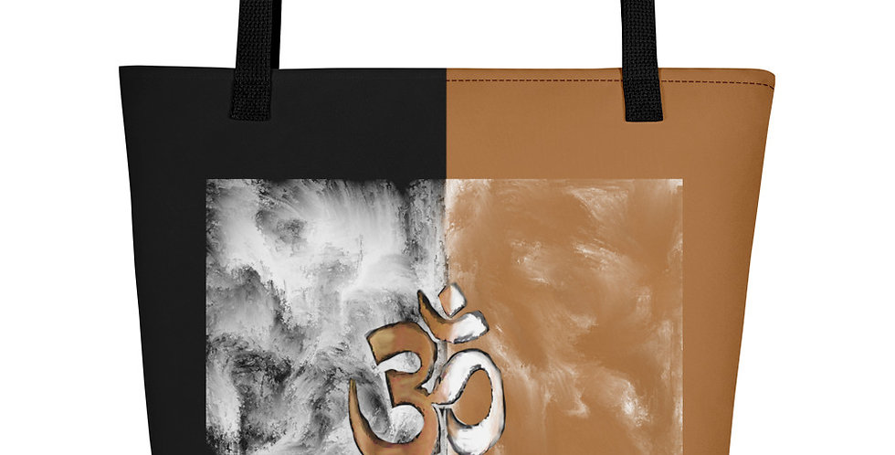 """Om (Terracotta Marble)"" Tote Bag"