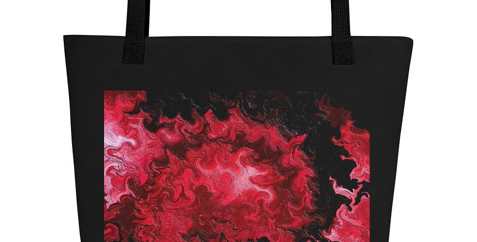 """Abstract Flame V"" Tote Bag"