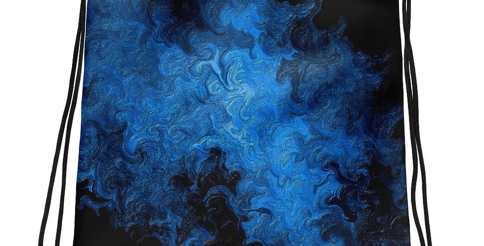 """Abstract Flame IV"" Drawstring Bag"