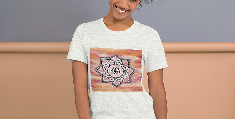 """Buddha Lotus (Crimson Sunset)"" Unisex T-Shirt"