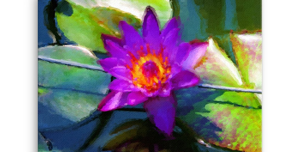 """Lotus X"" Canvas Print"