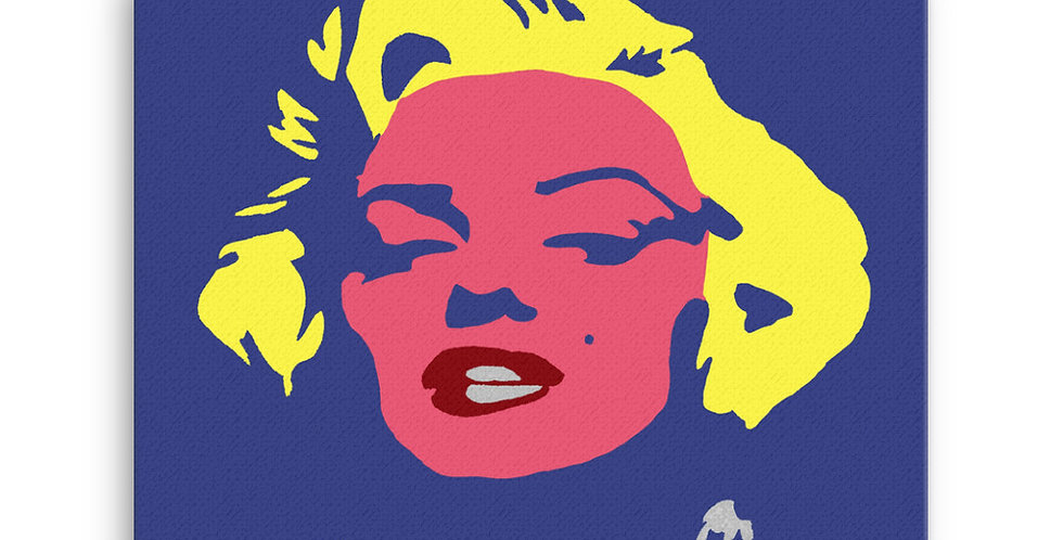 """Marilyn (Pop)"" Canvas Print"