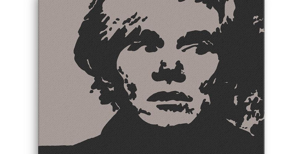 """Warhol (Shades Of Grey)"" Canvas Print"