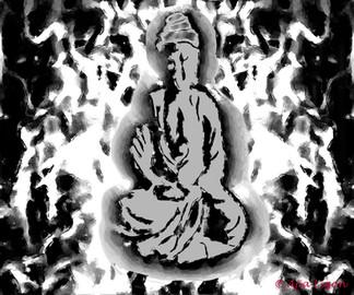 Radiant Buddha (Graffiti)