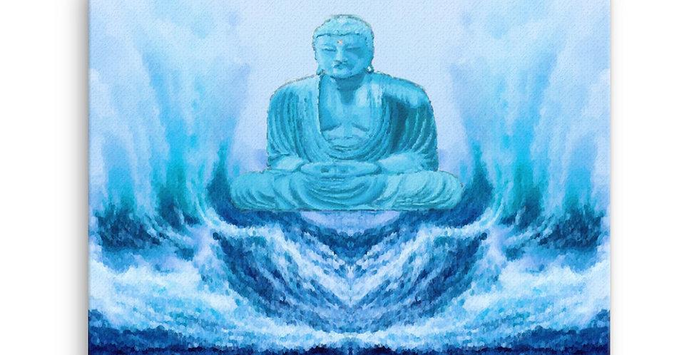 """Buddha Wave"" Canvas Print"