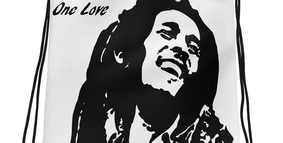"""One Love"" Drawstring Bag"