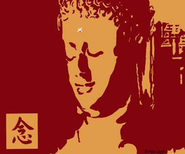 Mindfulness (Crimson & Gold)