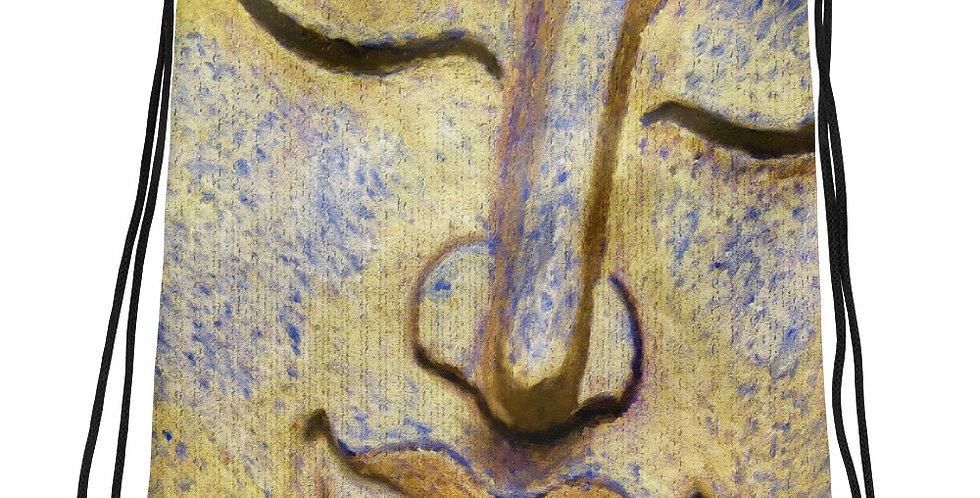 """Painted Buddha"" Drawstring Bag"
