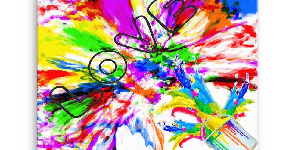 """Splash Of Love"" Canvas Print"