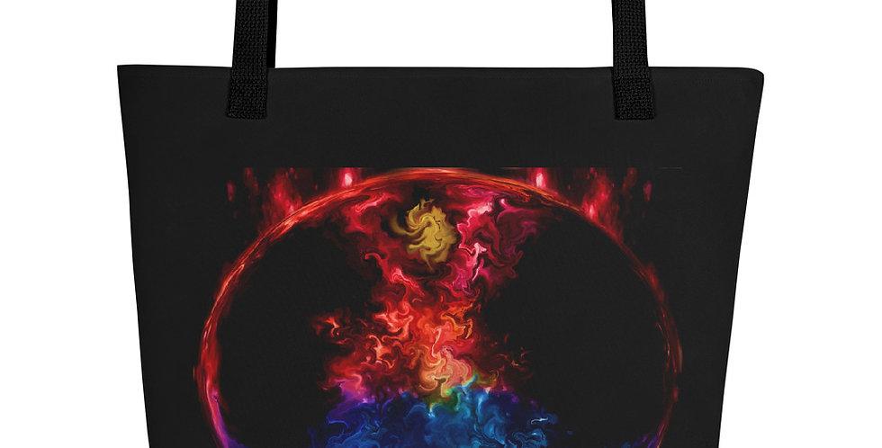 """Fire & Ice II"" Tote Bag"