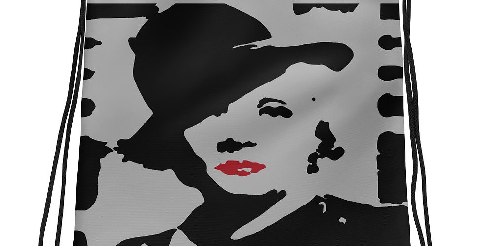 """Marlene II (Silver Screen)"" Drawstring Bag"