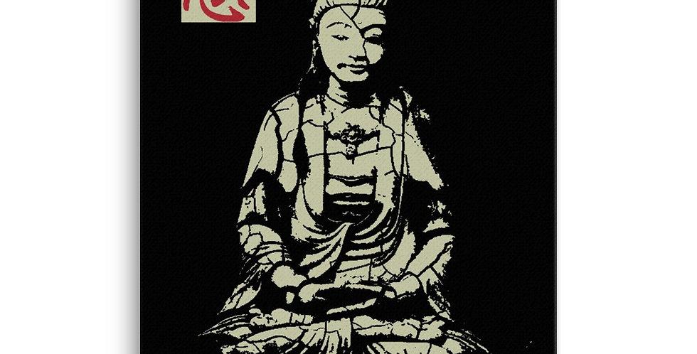 """Quan Yin (Stone)"" Canvas Print"