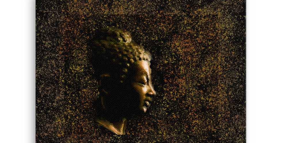 """Bronze Buddha"" Canvas Print"