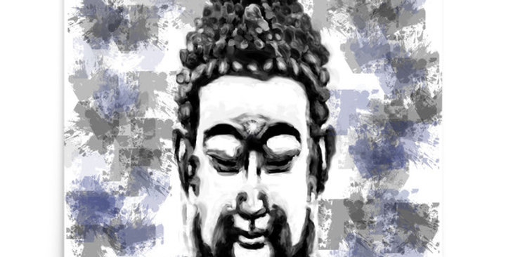 """Buddha (Splatter)"" Art Print"