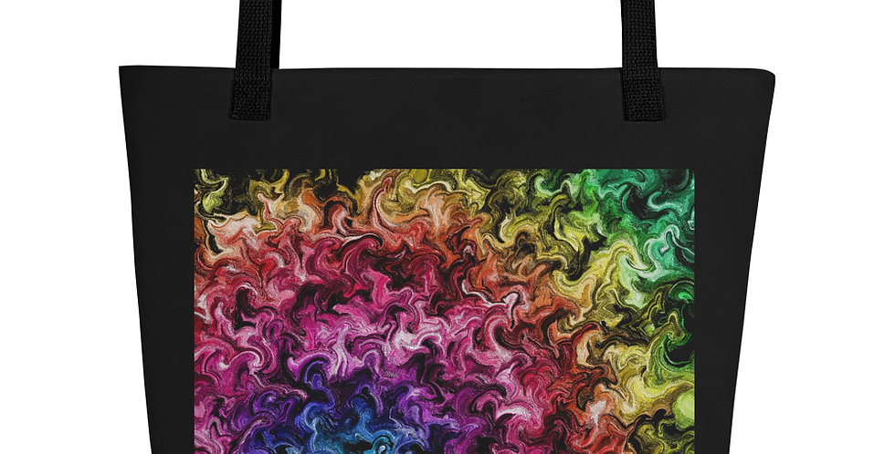 """Abstract Flame VI"" Tote Bag"